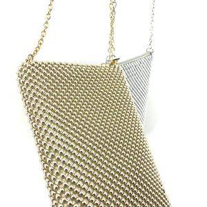 MUNDI Sparkle Mesh Ball Clutch Crossbody Bag